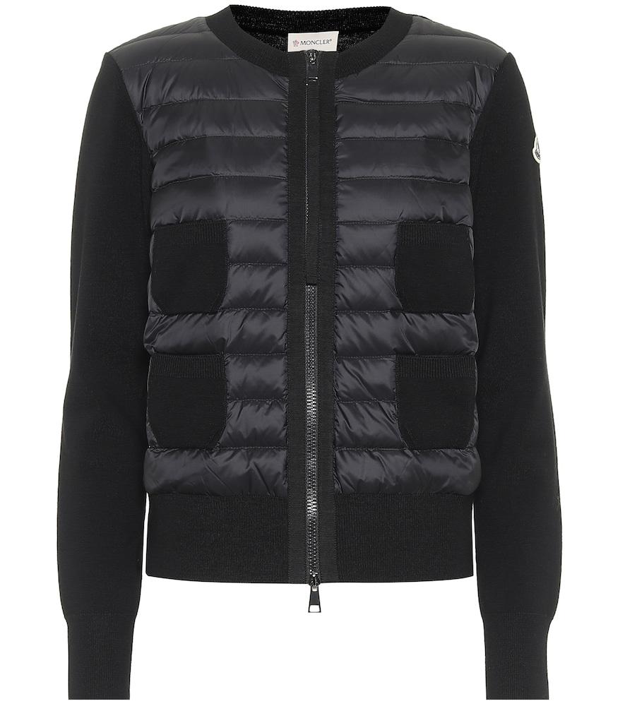 Virgin wool and down jacket