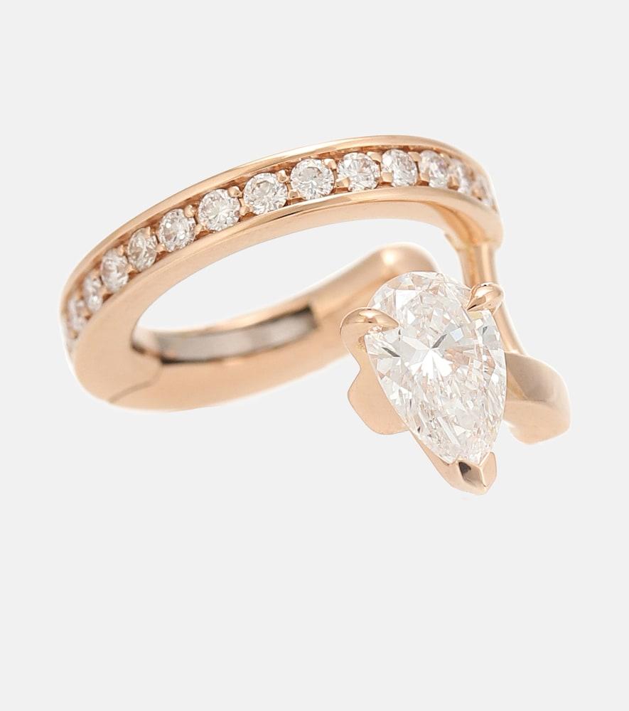 Repossi Serti Sur Vide 18kt Rose-gold And Diamond Ear Cuff