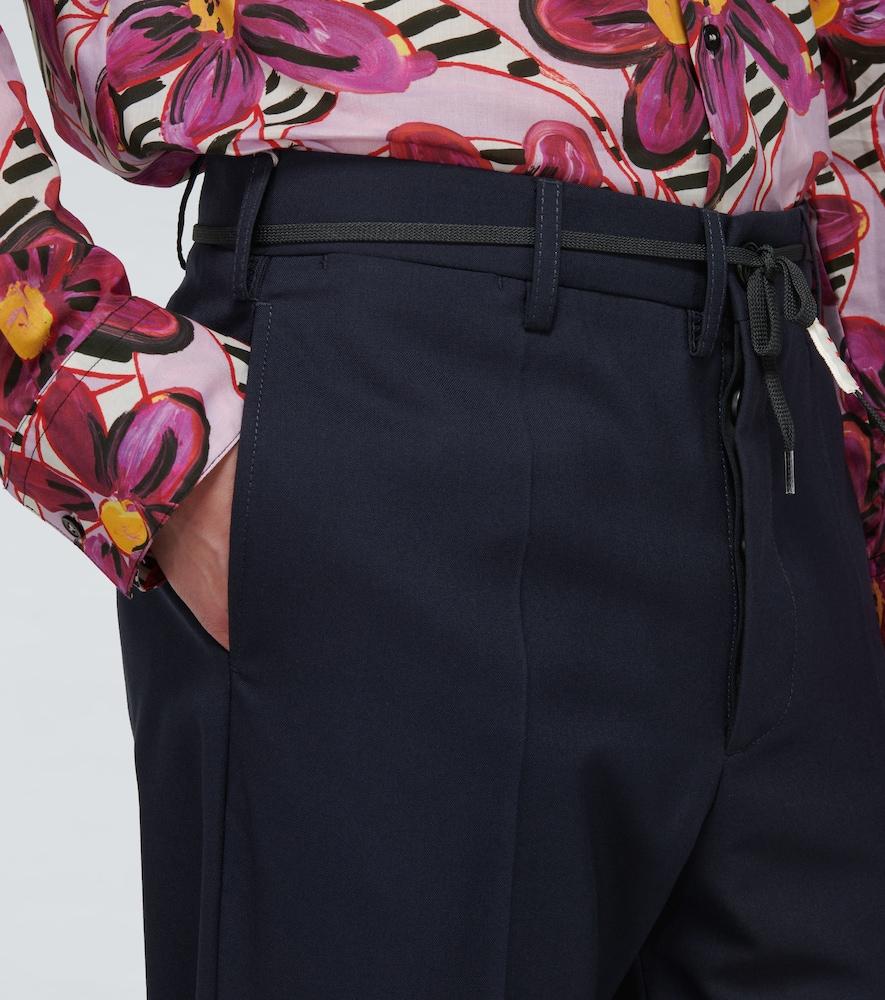 MARNI Wools BELTED WOOL PANTS