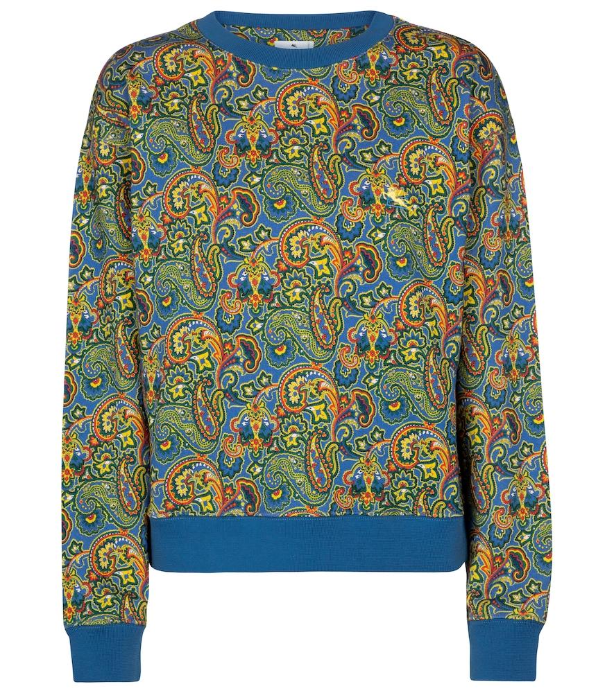 Paisley cotton sweatshirt