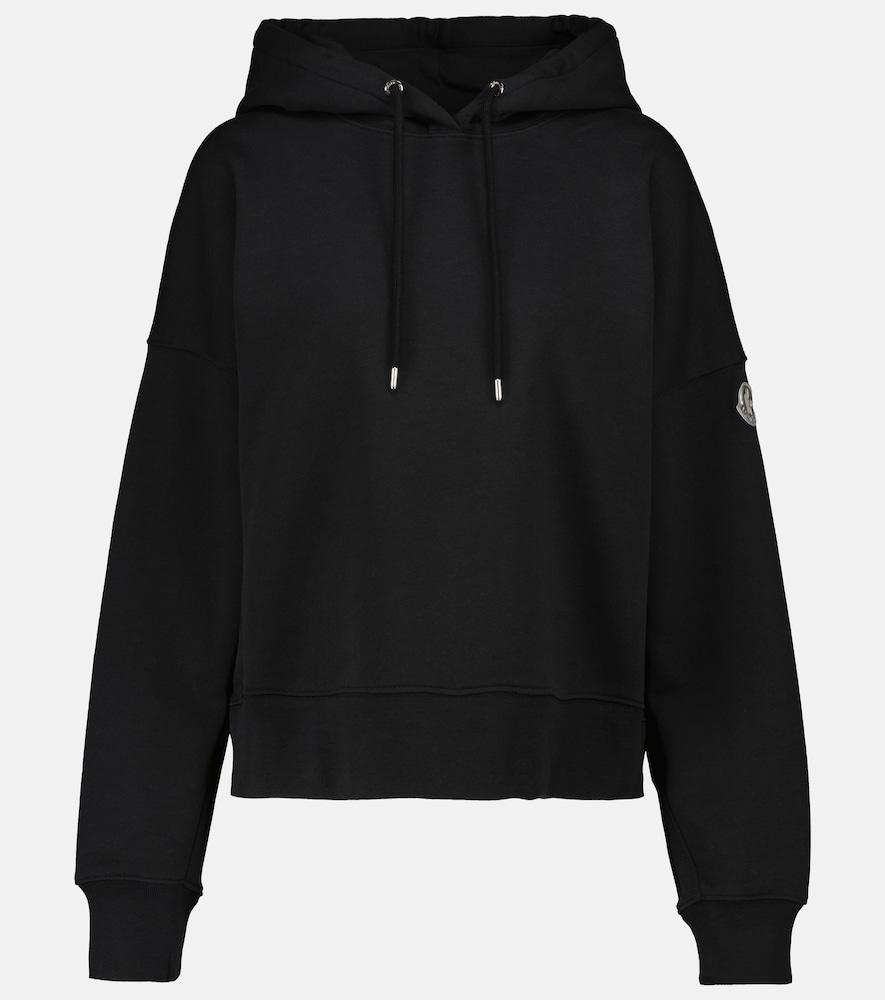 Stretch-cotton hoodie