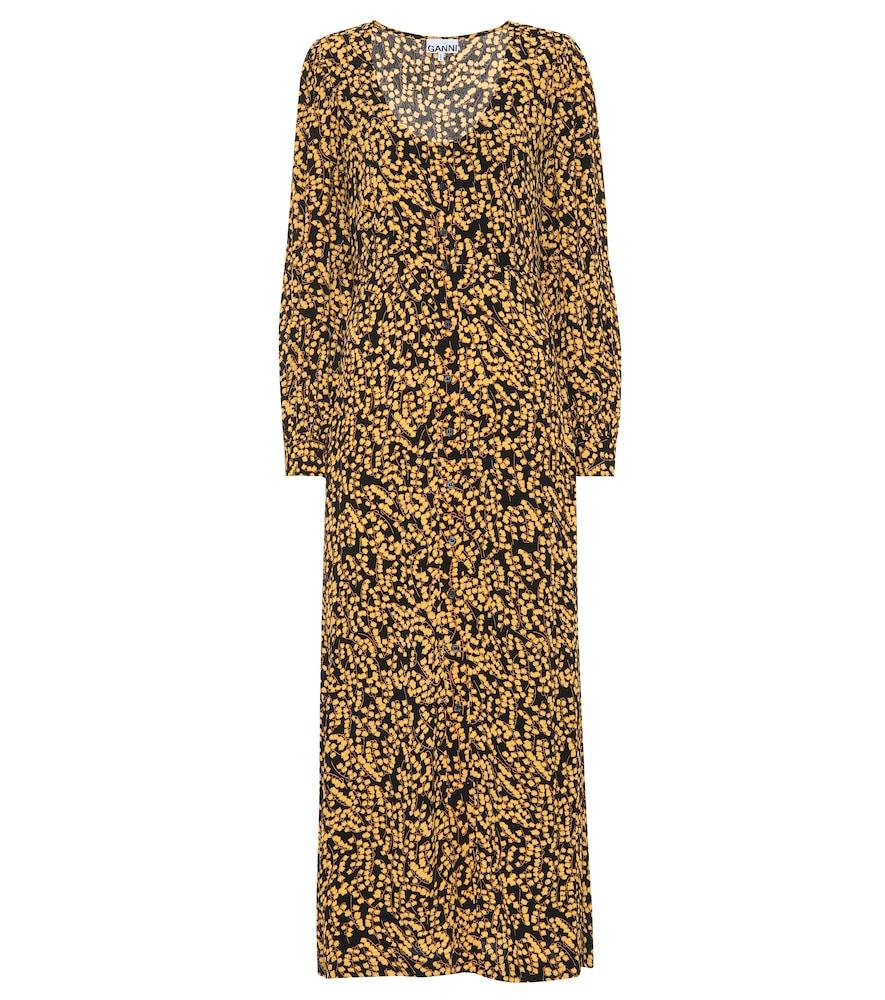 Ganni Dresses FLORAL CRÊPE MAXI DRESS