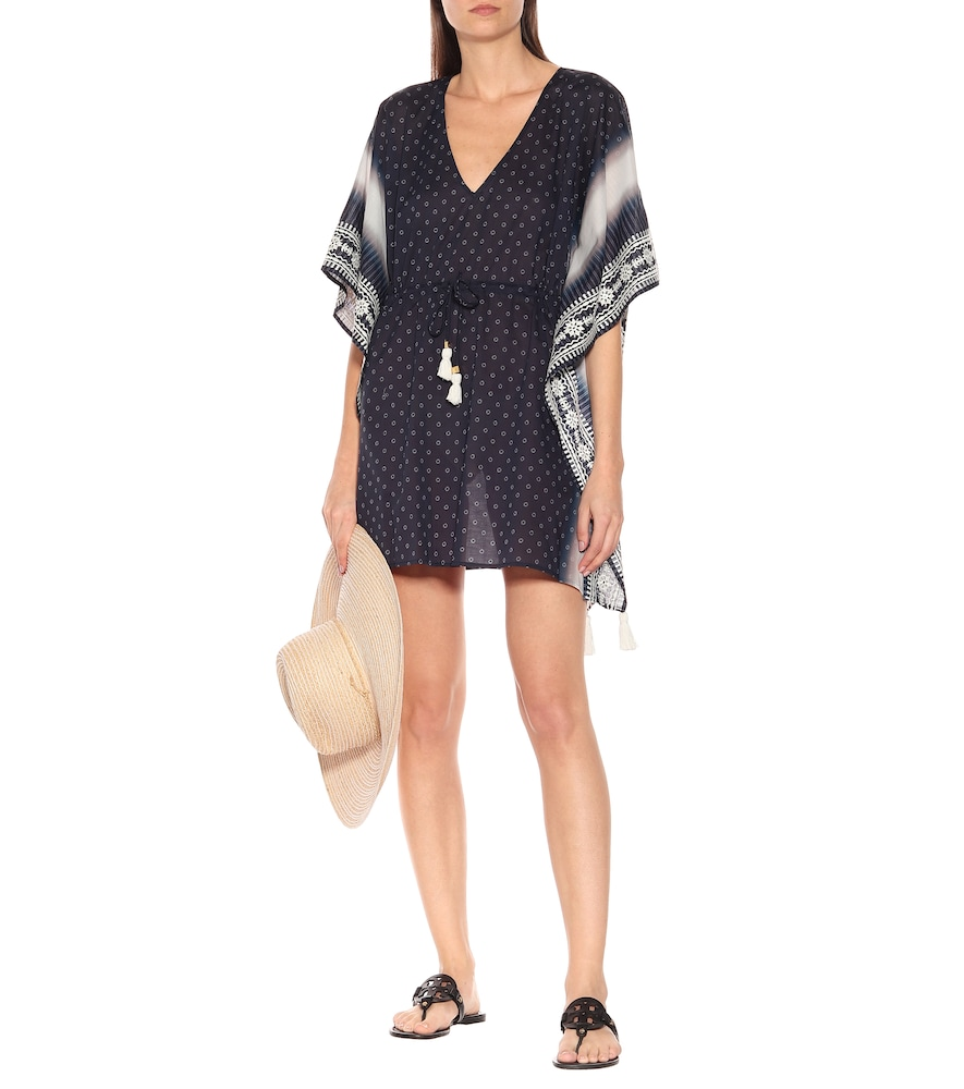 Ravena printed cotton-voile kaftan by Tory Burch