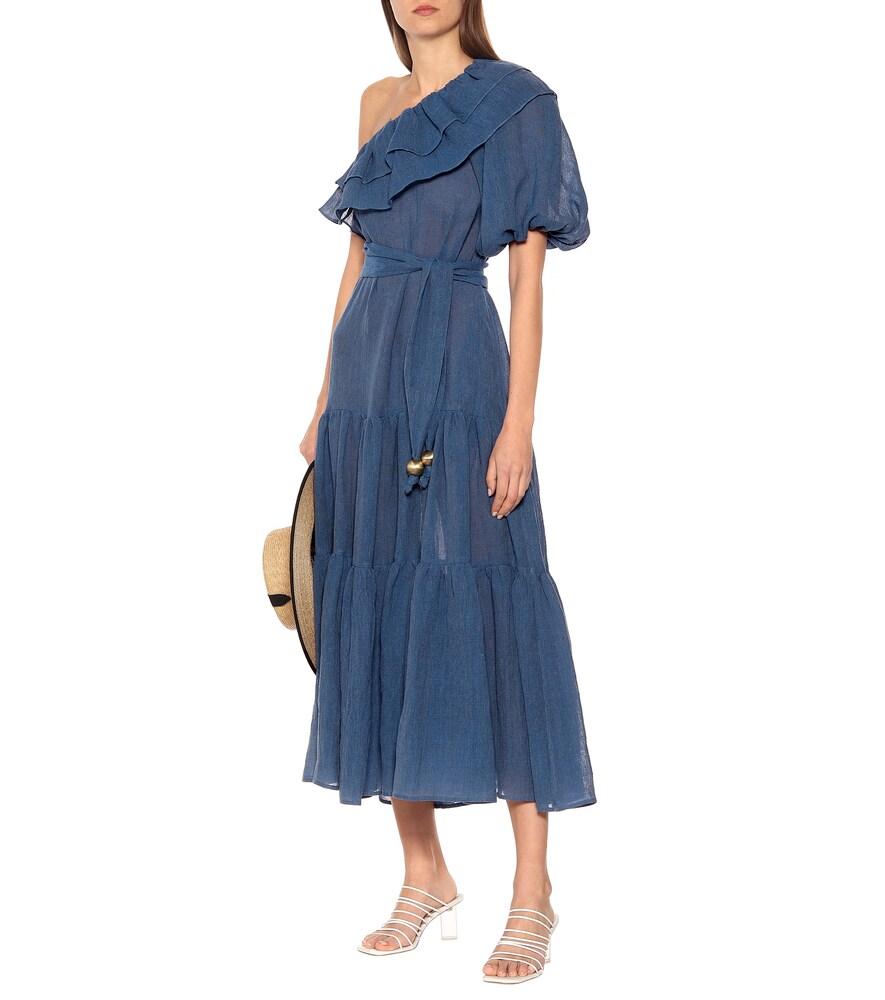 Arden linen-blend maxi dress by Lisa Marie Fernandez