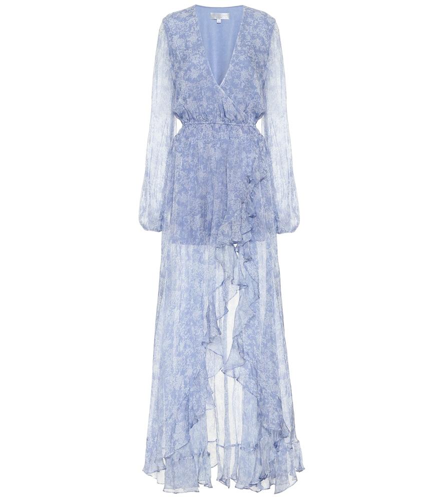 Robe longue Liv imprimée en soie