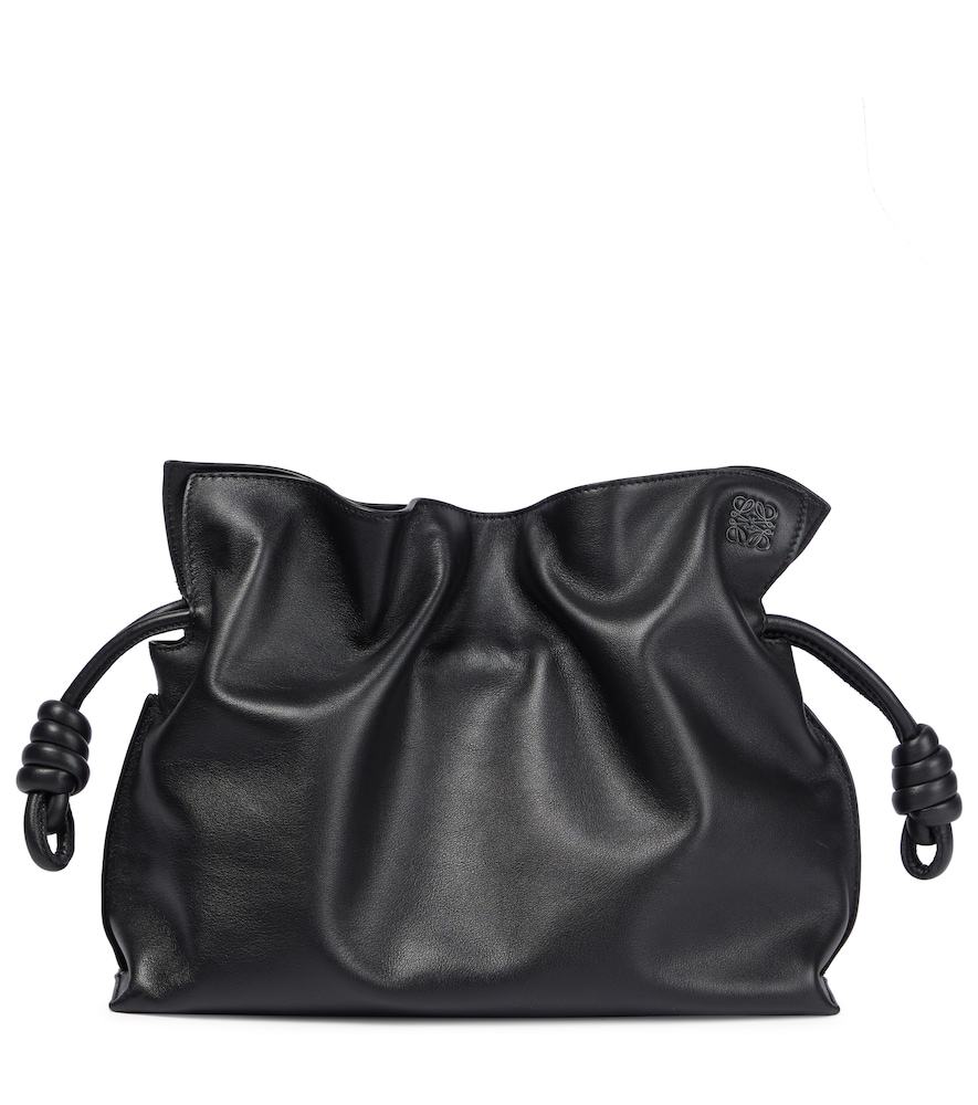 Flamenco leather clutch