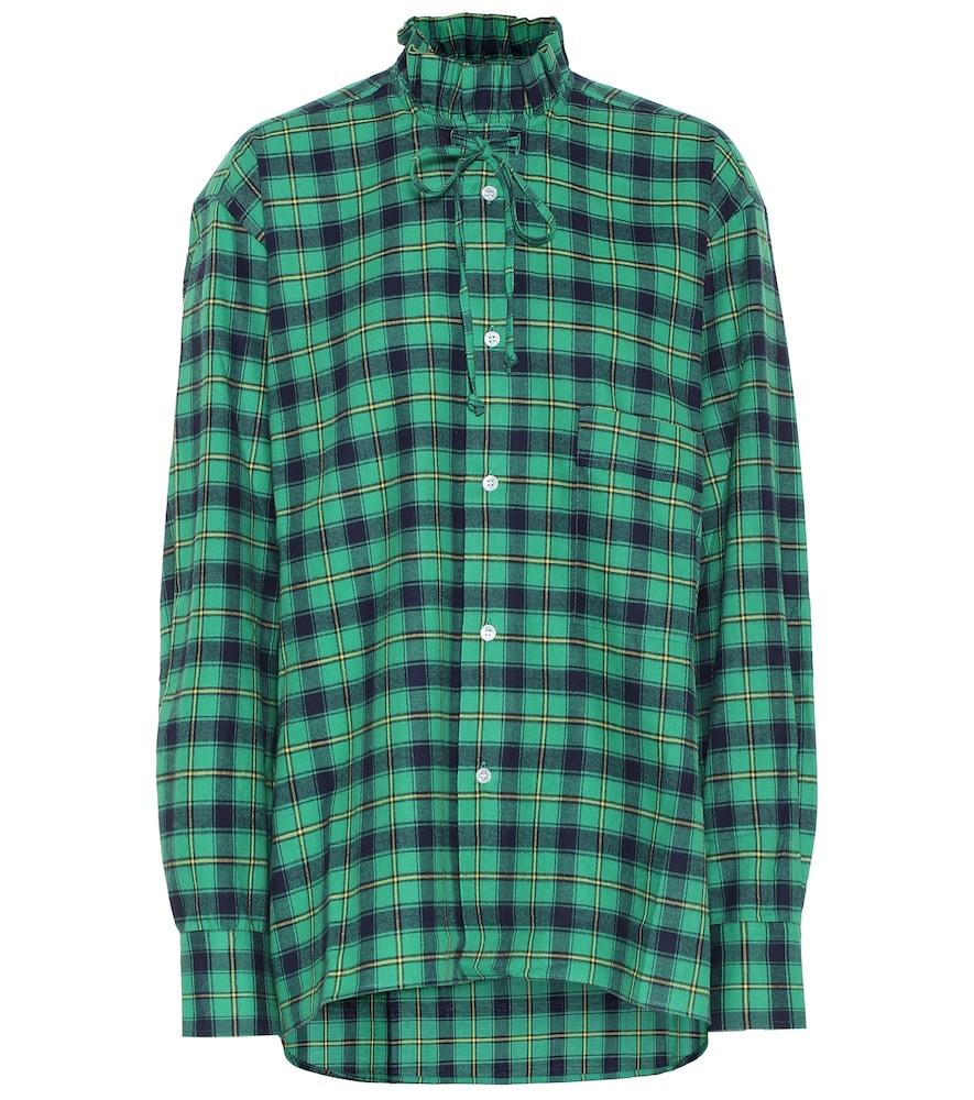 Chemise en coton à carreaux