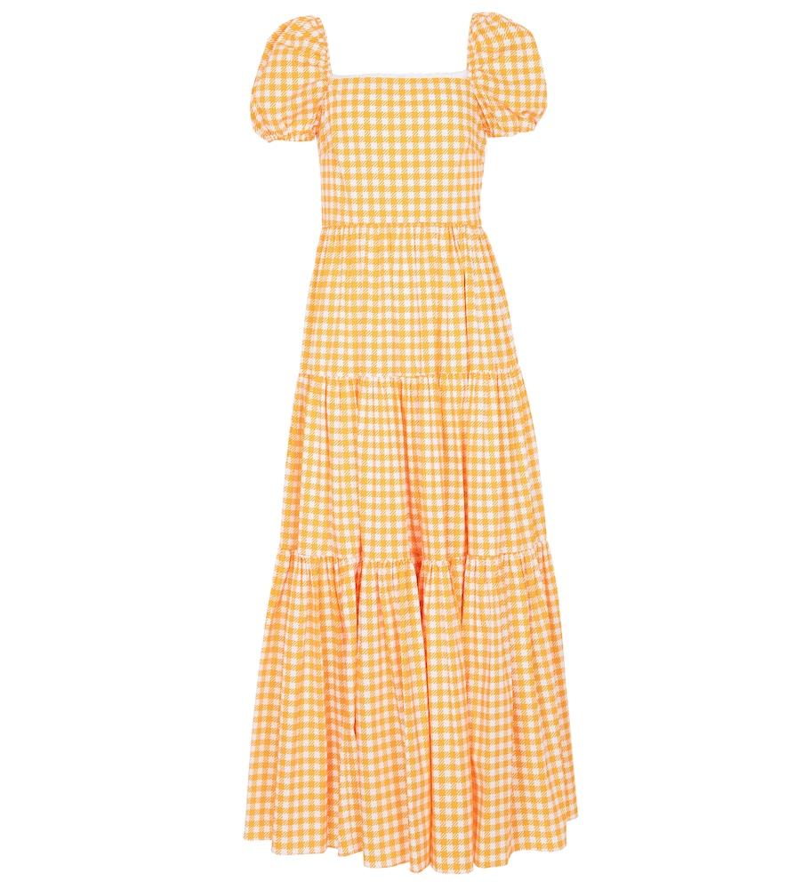 Hart checked maxi dress
