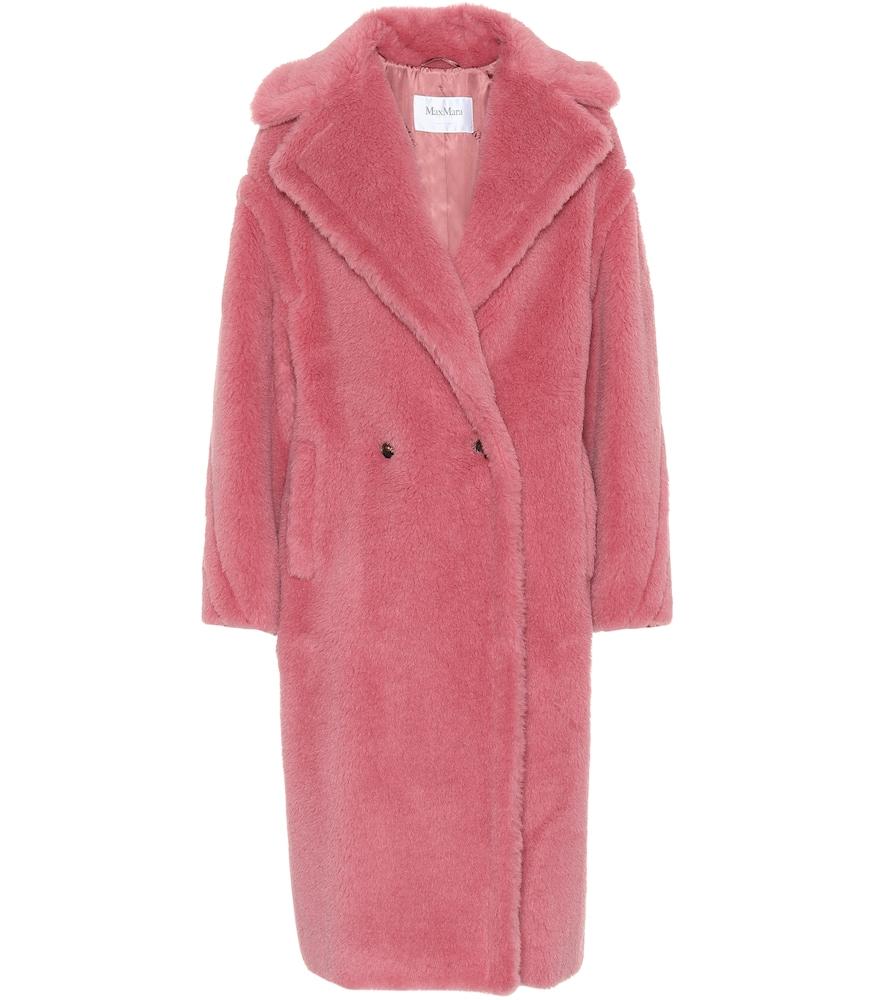Tapioca Wool-Blend Teddy Coat, Pink