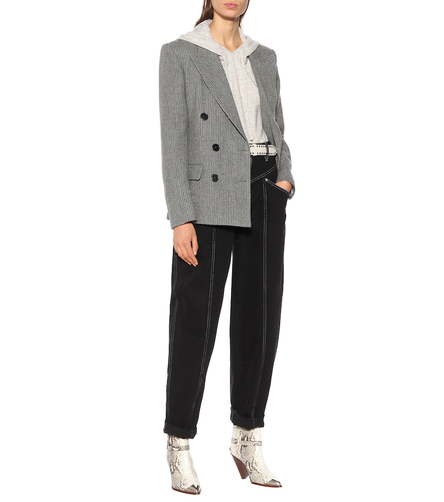 Photo of Eleigh wool and linen blazer by Isabel Marant - shop Isabel Marant Jackets, Blazers online