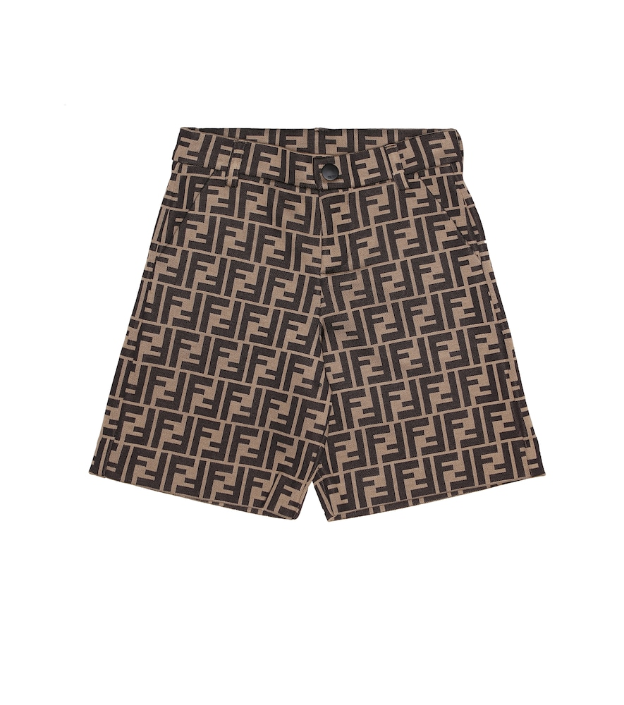 Fendi JACQUARD COTTON-BLEND SHORTS