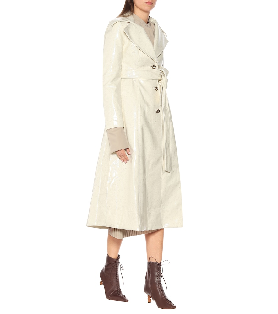 Rhea laminated wool trench coat by Rejina Pyo