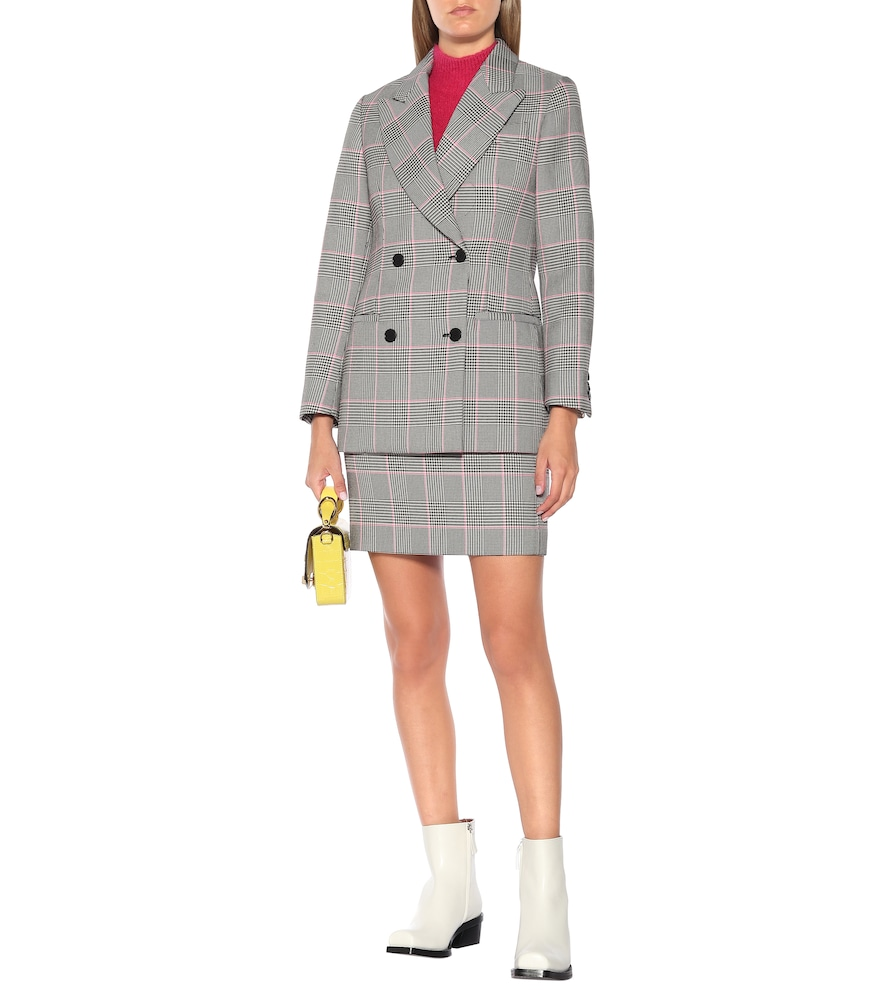 Check double-breasted blazer by MSGM