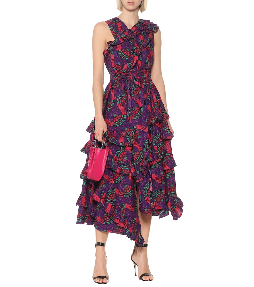 Imogen printed cotton midi dress by Ulla Johnson