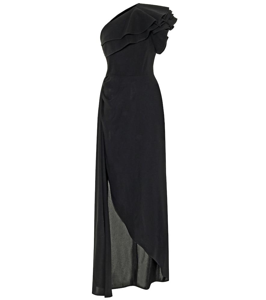 Robe asymétrique en crêpe - Elie Saab - Modalova