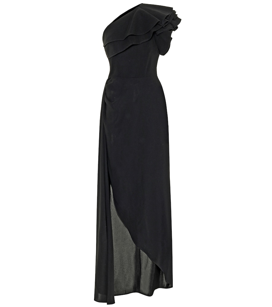 Robe asymétrique en crêpe
