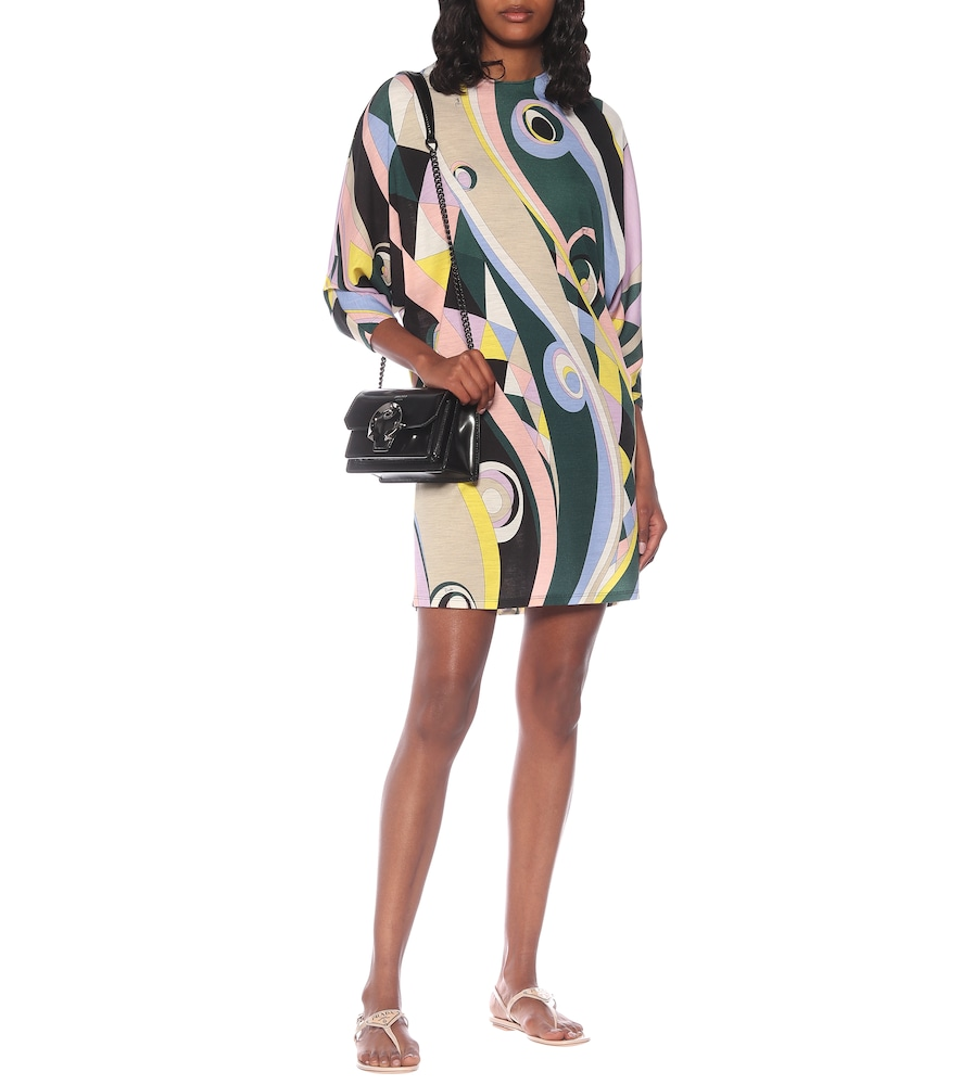 Printed wool-blend jersey minidress by Emilio Pucci