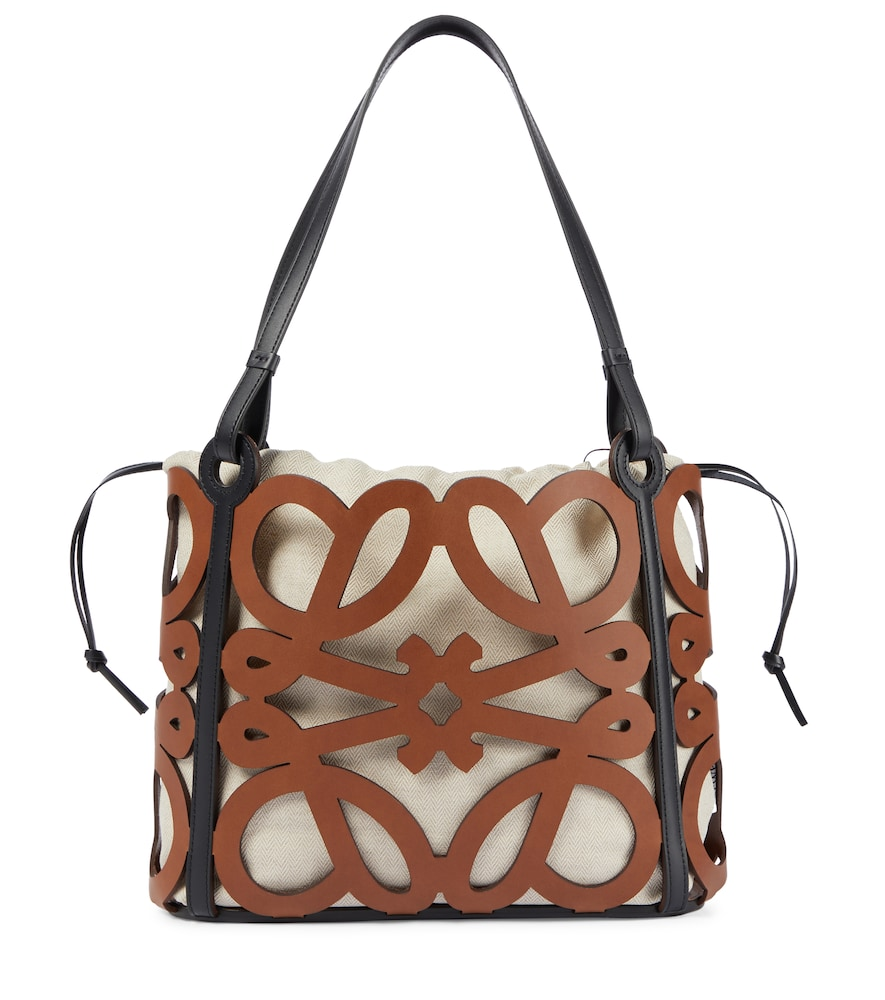 Anagram Small cutout leather tote