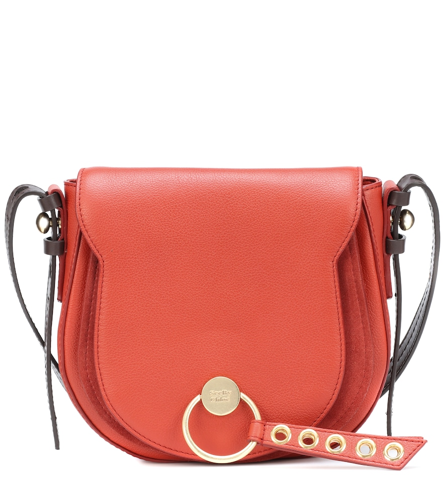 606b5c5c2e5d2 See By ChloÉ Lumir Large Leather Shoulder Bag In Red