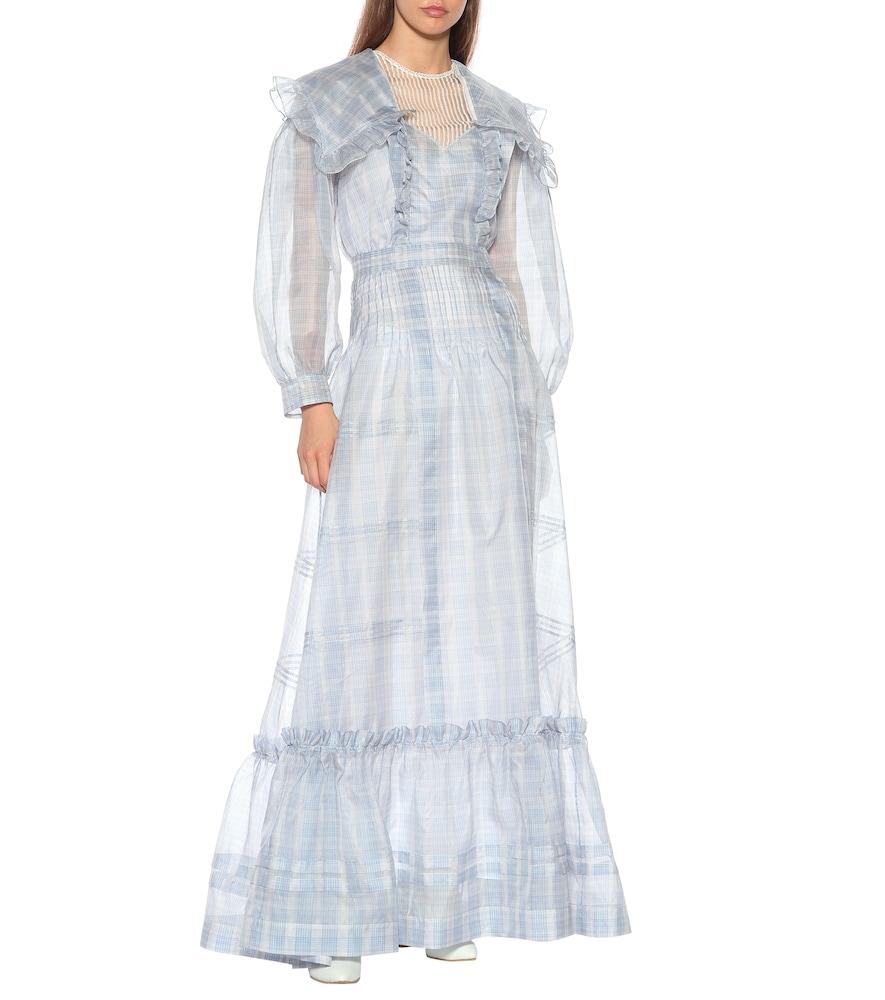Checked silk dress by Calvin Klein 205W39NYC