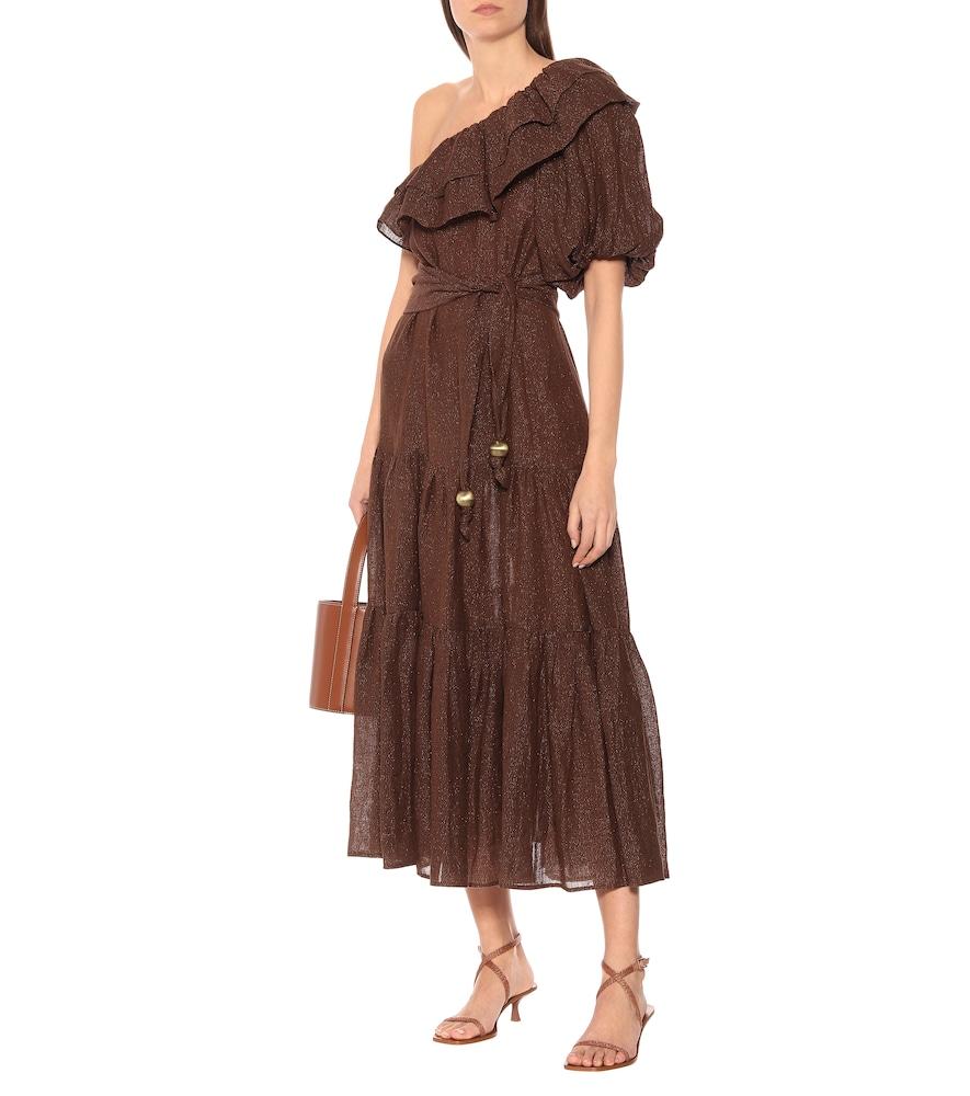 Arden metallic linen-blend dress by Lisa Marie Fernandez
