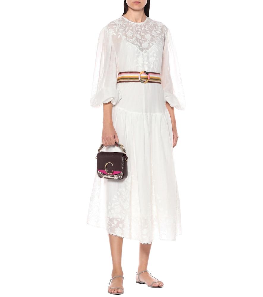 Zinnia appliqué midi dress by Zimmermann