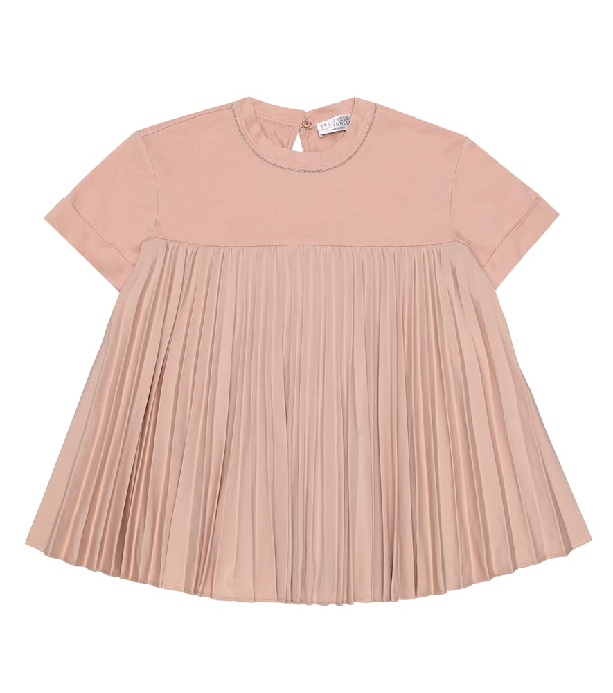 Brunello Cucinelli Exclusive to Mytheresa – Pleated cotton T-shirt