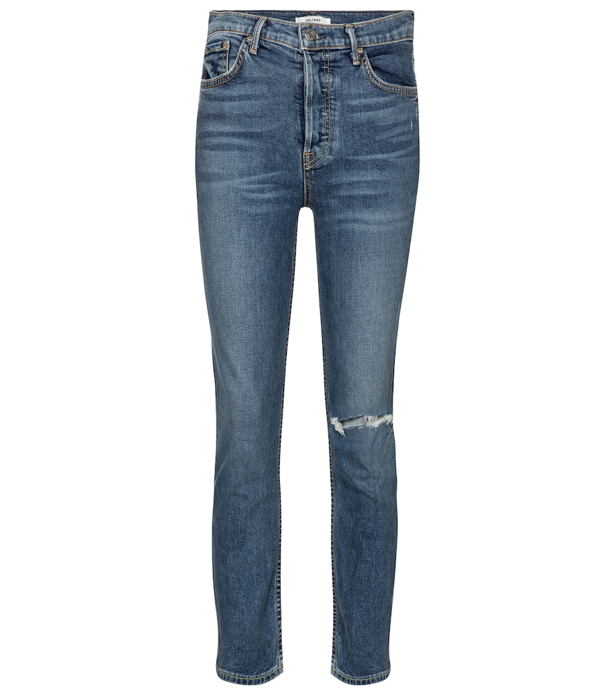 Reed high-rise cropped skinny jeans