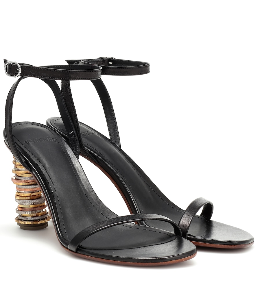 Vetements Sandals MONEY LEATHER SANDALS