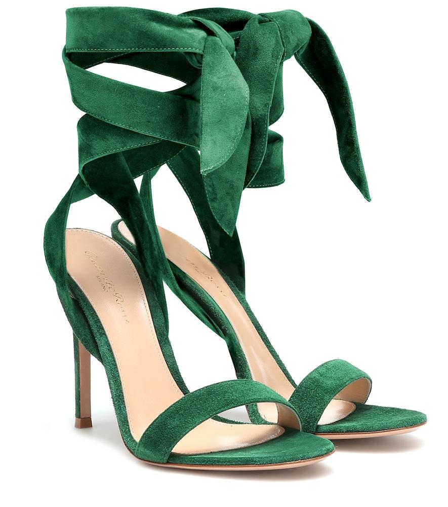 GIANVITO ROSSI | Aluna suede sandals | Goxip