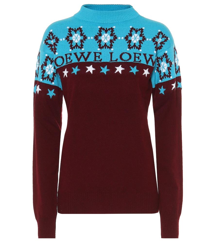 Pull Snowflake en laine intarsia - Loewe - Modalova