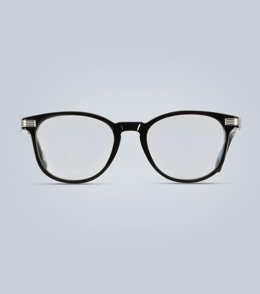 Round acetate glasses