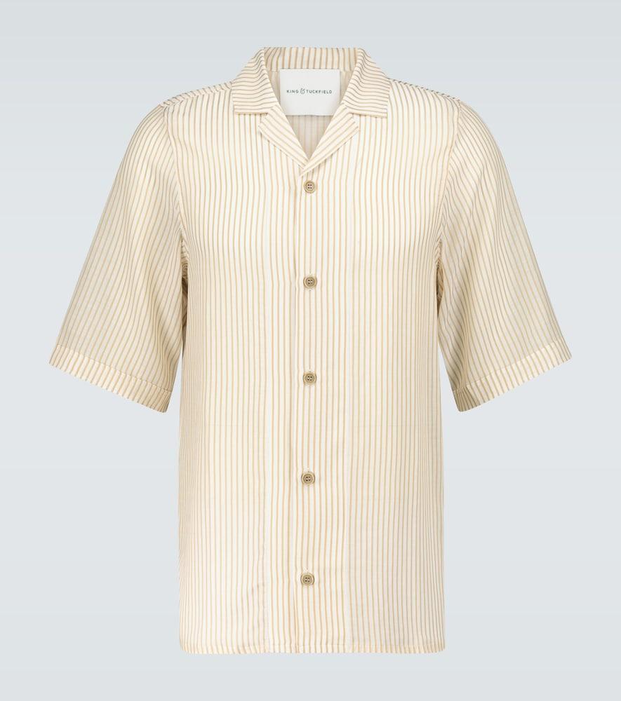 Striped bowling shirt