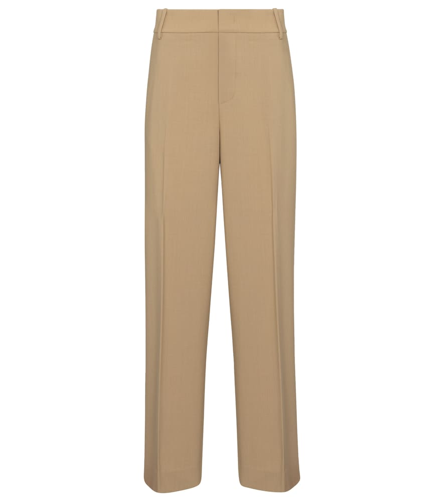 Vince HIGH-RISE WOOL-BLEND STRAIGHT PANTS