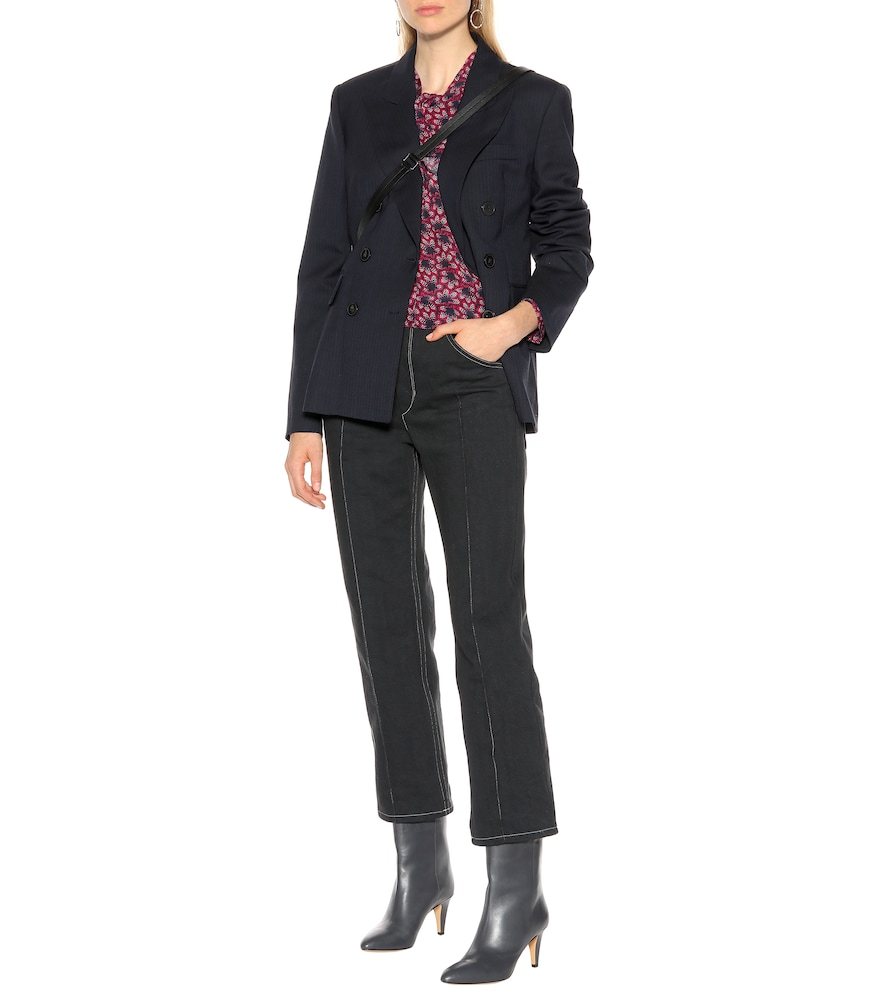 Photo of Helsey stretch wool blazer by Isabel Marant - shop Isabel Marant Jackets, Blazers online