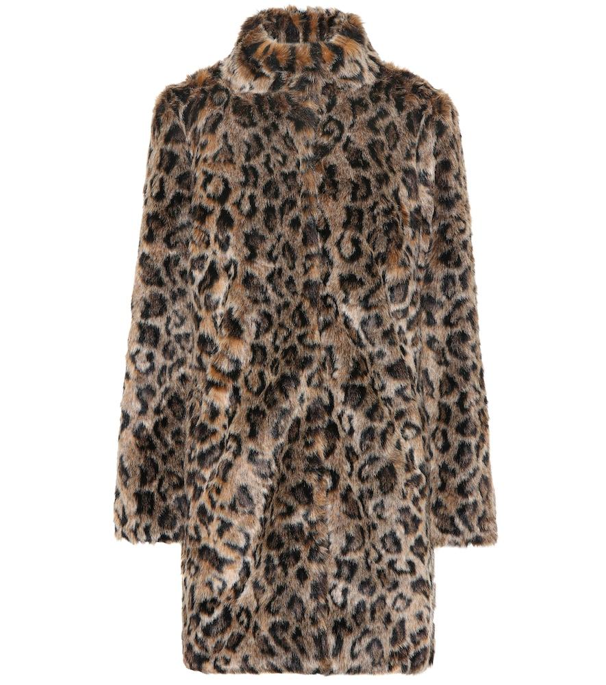 Velvet Coats CHRISSIE LEOPARD FAUX FUR COAT