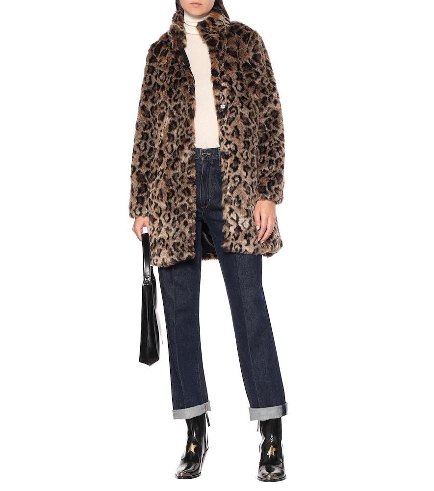 Chrissie leopard faux fur coat by Velvet
