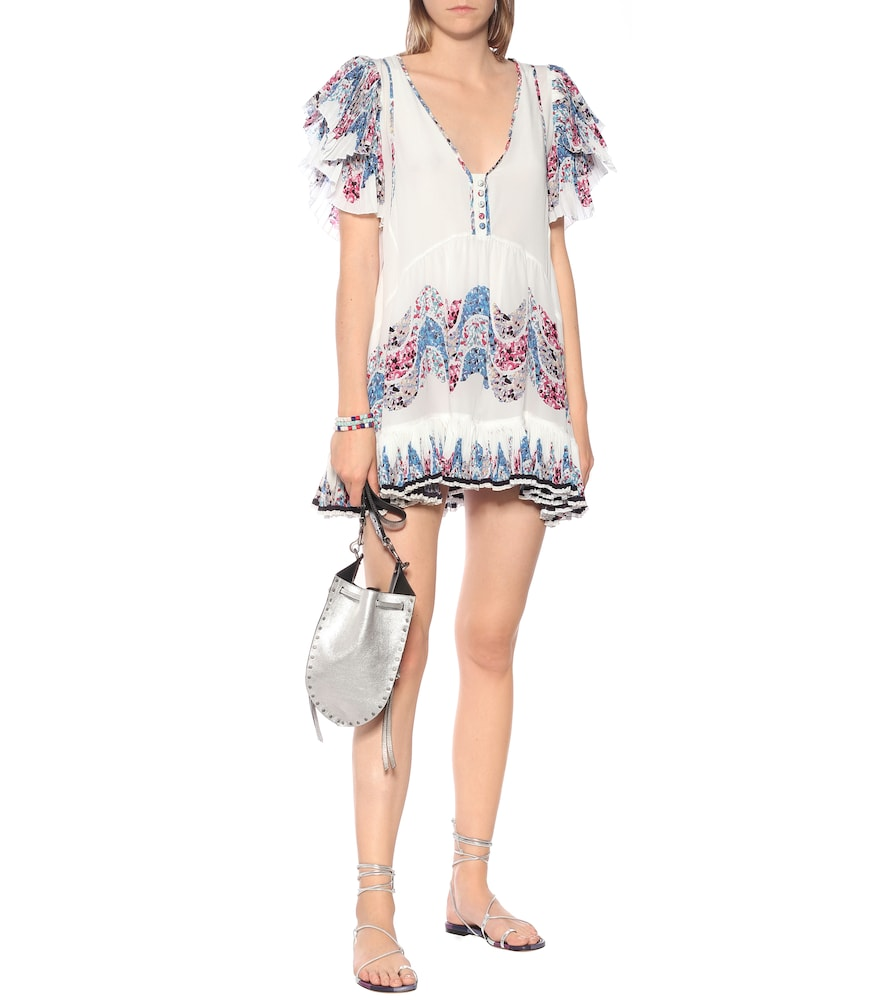 Nubia printed silk minidress by Isabel Marant