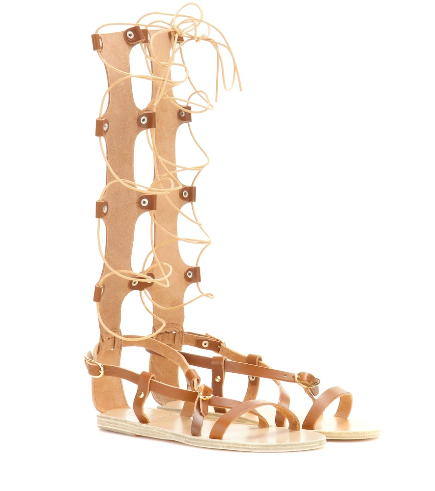 Sofia High leather gladiator sandals