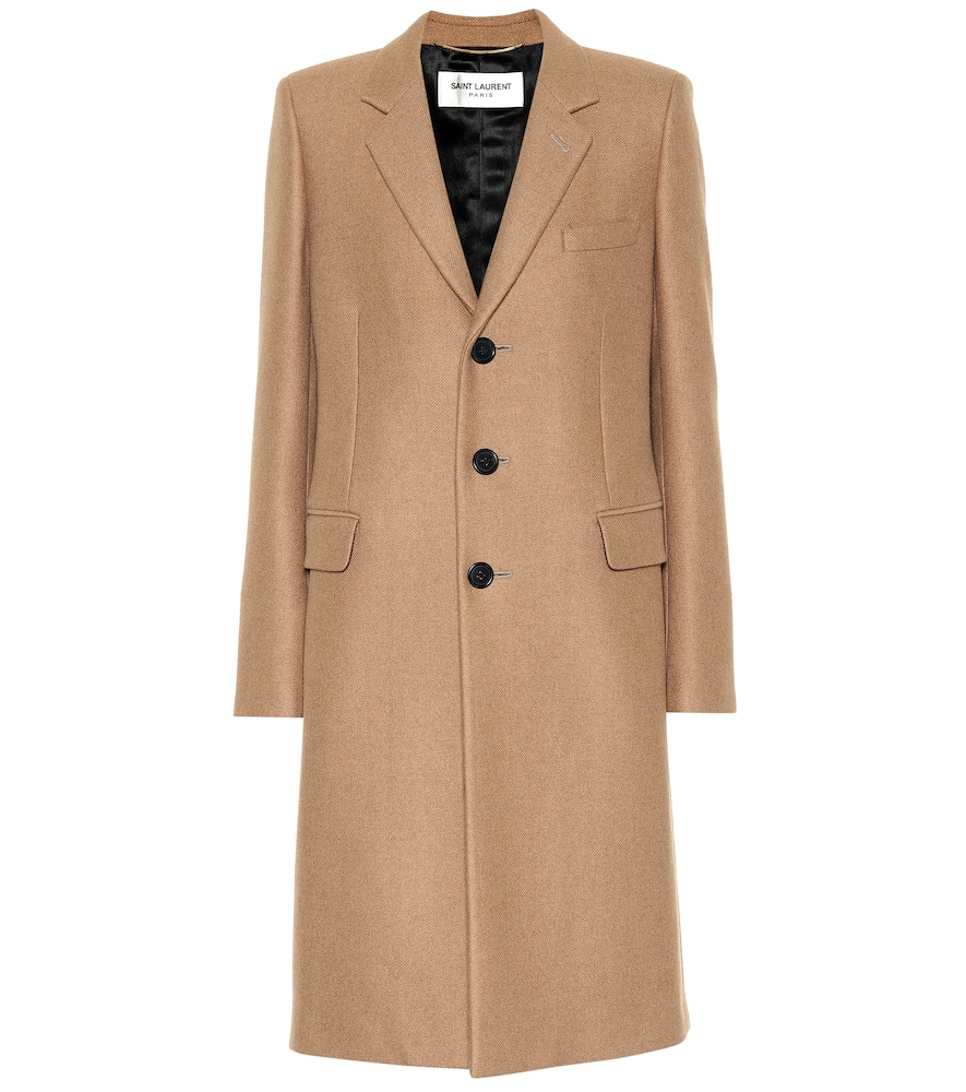 Single-Breasted Buttoned Coat in Neutrals