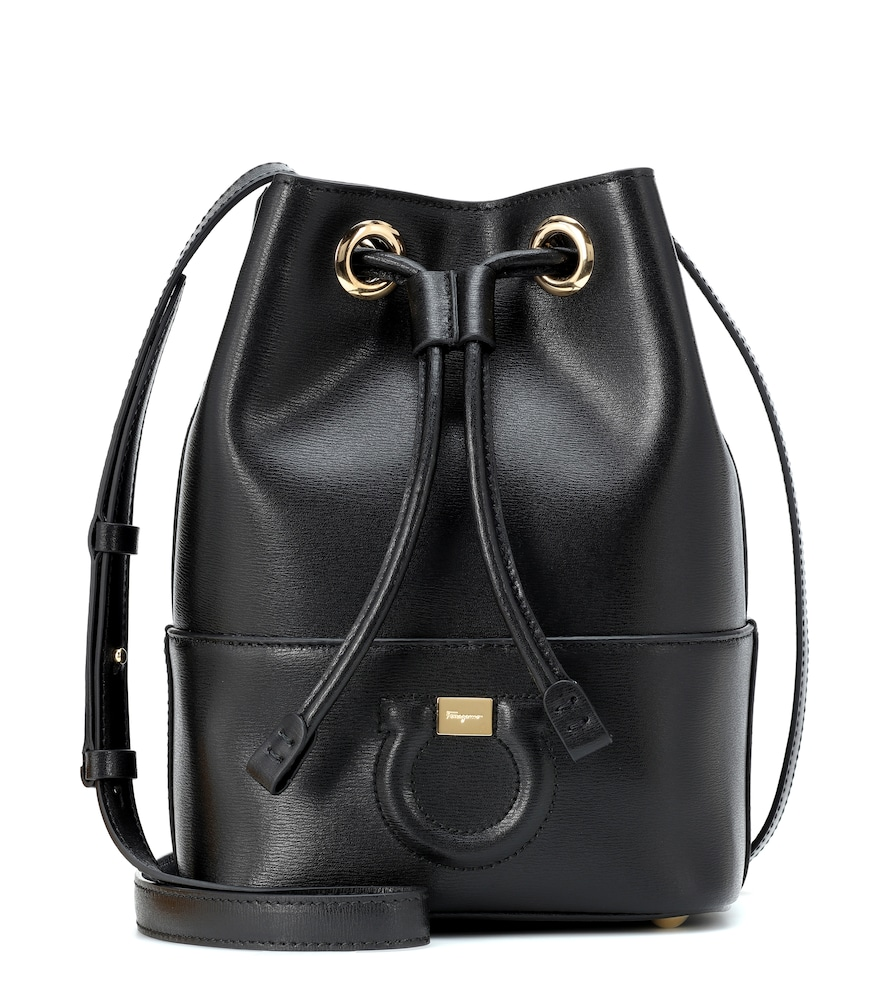 2a7c0633d4d Salvatore Ferragamo City Drawstring Bucket Bag In Black   ModeSens