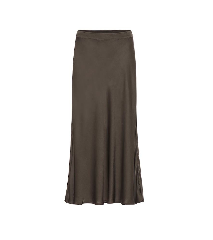 Velvet Skirts SHELBY SATIN MIDI SKIRT