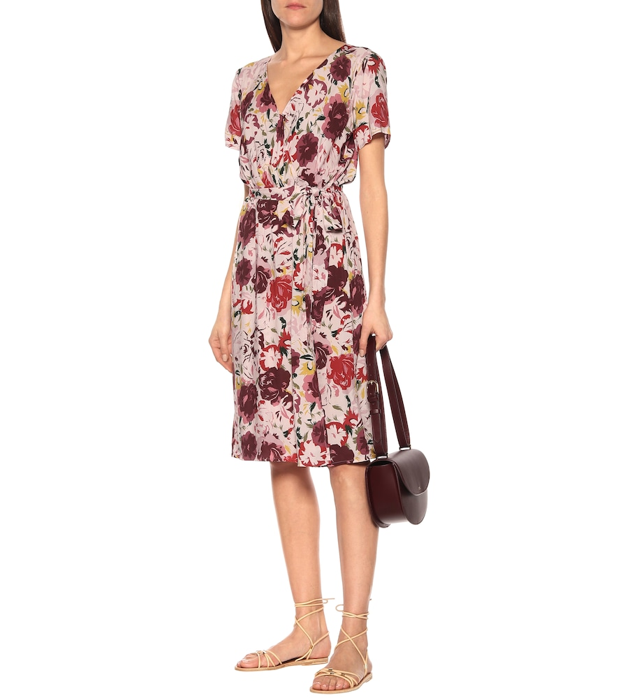 Photo of Exclusive to Mytheresa - Rona floral wrap dress by Velvet - shop Velvet Dresses, Knee-Length online