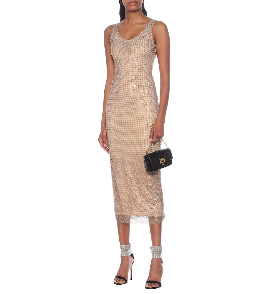 Crystal-embellished midi dress by Alessandra Rich
