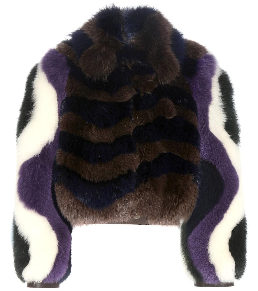 Printed Fur Jacket
