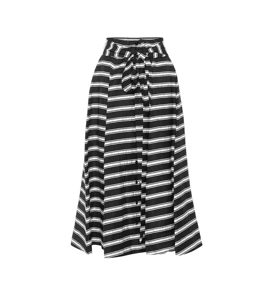 Lisa Marie Fernandez Skirts STRIPED LINEN-BLEND MIDI SKIRT