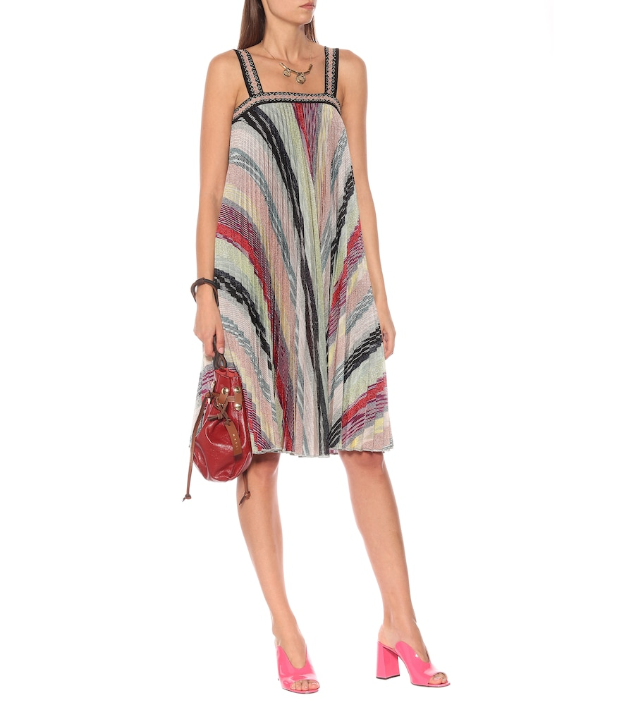 Striped metallic knit dress by Missoni