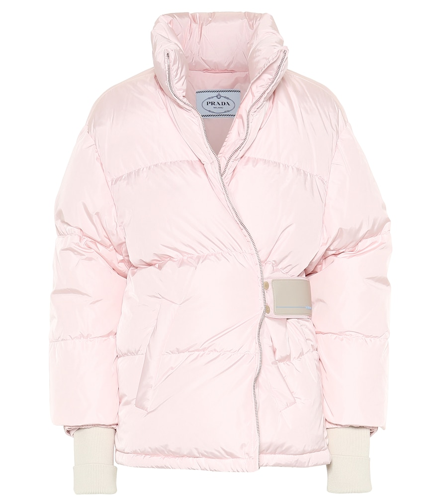 Prada Down Nylon Gabardine Jacket In Pink