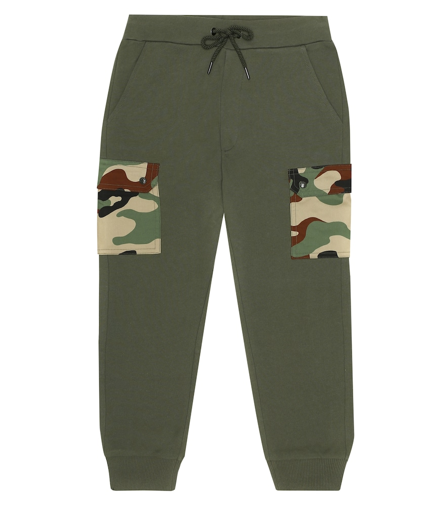Moncler CAMO COTTON JERSEY TRACKPANTS