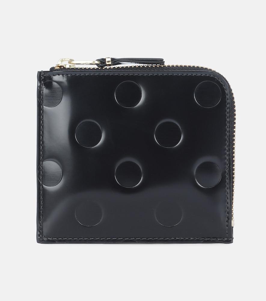Portefeuille Dots Small en cuir verni embossé - Comme Des Garçons Wallet - Modalova